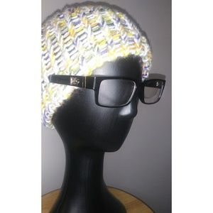 Yellow and Blue Womens knit hat